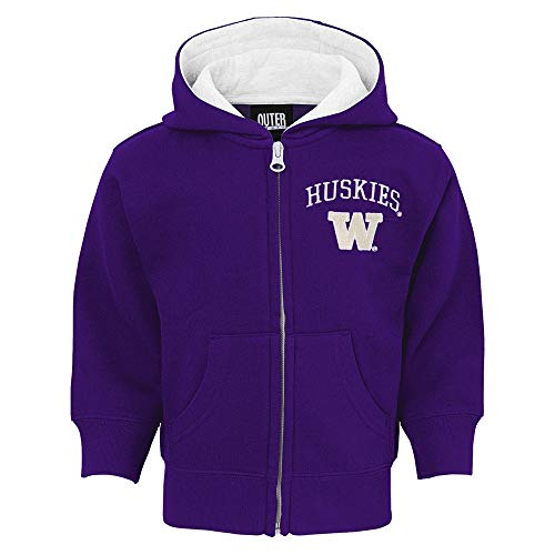 - Outerstuff Washington Huskies NCAA Purple Pledge Full Zip Hoodie Toddler, 4T