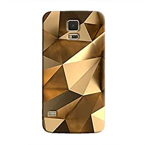 Cover It Up - Gold Angles Galaxy S5 Hard Case