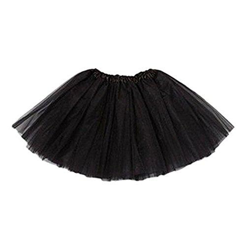 Niña Little Princess Fancy Dancewear Dance Party Tutu Falda de ballet costume-black,  Negro