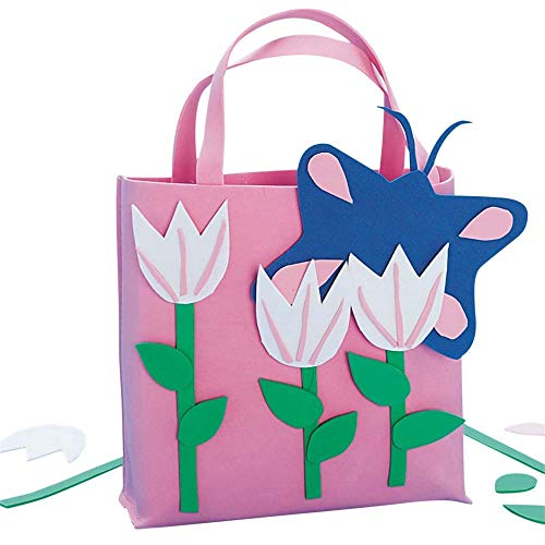 Pink Tulips Tote Bag© Craft - Bag Craft Kit