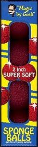 "Red Magic Sponge Balls - 2"", Super Soft By Gosh"