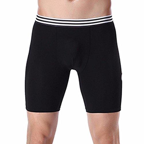 Bóxer Para Hombre,YUYOUG Hombres Suave sexy ropa interior de algodón pantalones cortos (XXL, Black)