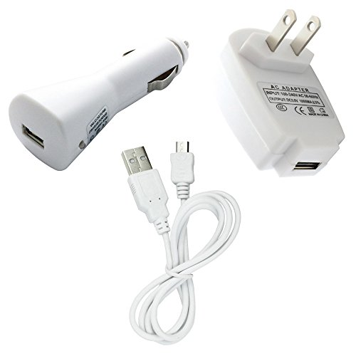 Fenzer White Home Wall Travel Auto Car Data Sync USB Charger Cable for Blackberry 8220 9100 9105 3G Pearl Flip 8520 8530 8900 9300 9330 9350 9360 9370 Curve Gemini 9500 9530 9550 9570 Storm 2 (8220 Usb)