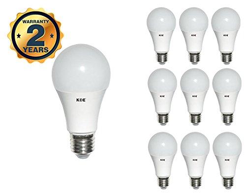 KDE - Bombilla LED Estándar 15W - Casquillo E27 - Luz fría - 6500K - 640 lúmenes - 10UD - Eficiencia energética A+: Amazon.es: Iluminación