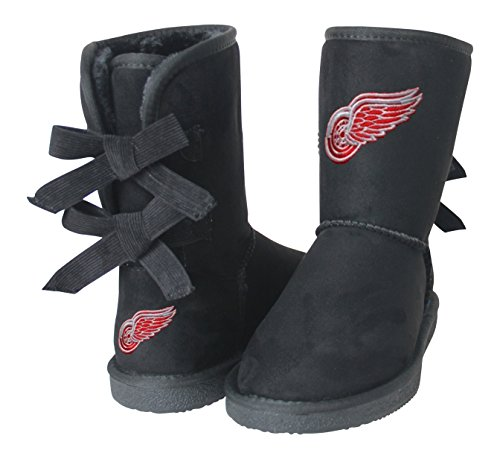 NHL Detroit Red Wings Boys Fan Boot, Size 10, Black by Cuce Shoes