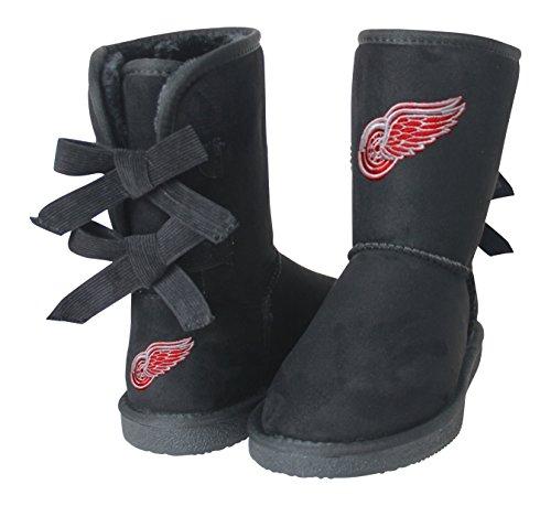 NHL Detroit Red Wings Boys Fan Boot, Size 7, Black by Cuce Shoes