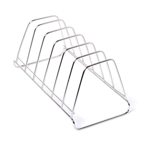 DECORVAIZ Stainless Steel Plate Rack   Dish Rack   Plate Stand   Dish Stand   Pack of 1 (Length 27 cm Height 12 cm Width…