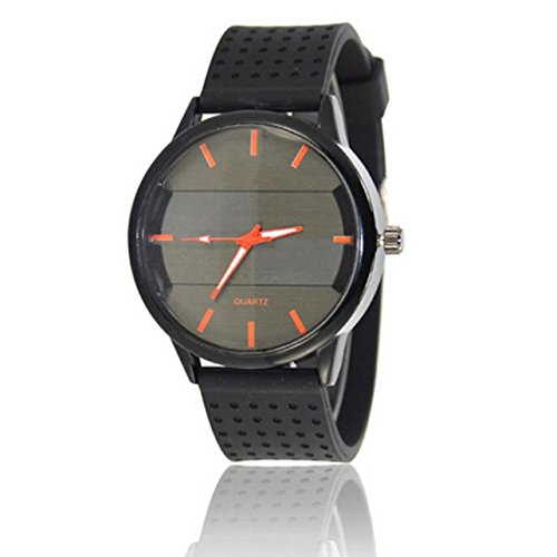 Stainless Steel Dial Leather Watch,Roumin Men's Luxury Quartz Sports Outdoor Business Watch(Orange)