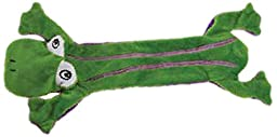 Grriggles Unstuffy Frog Pet Toy, Green