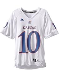 (新品)2.2折,$14.50,Adidas NCAA Kansas Jayhawks 阿迪达斯短袖,