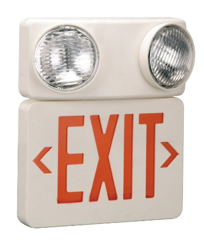 Emergency 2 Head LED Exit Sign – MFG# 673086 Wall Mounted Exit Sign