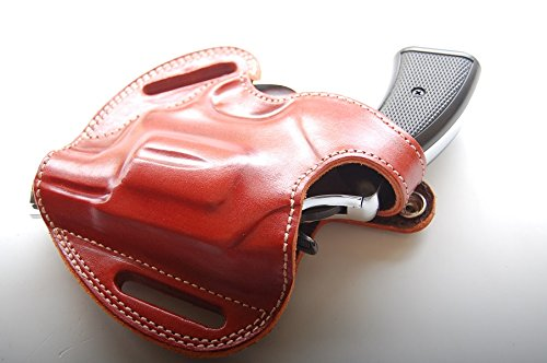 cal38 Handcrafted Leather Belt Holster for Charter Arms Undercover 38 Special 2 inch Barrel R.H TAN