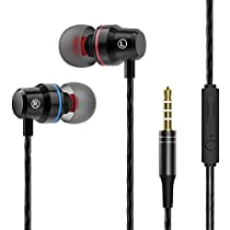 Earbuds, Sweatproof Earphones with Microphone, in Ear Headphones for Workout Exercise Gym