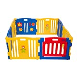 MCC Plastic Baby Playpen 8 Sides with Activity Panel