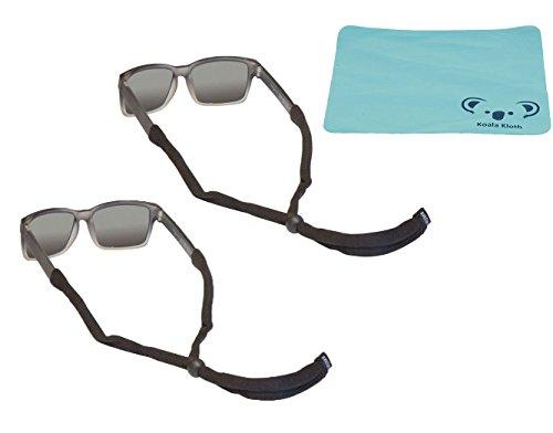Chums Kids Child Original Cotton Eyewear Retainer Sunglass & Eyeglass Strap for Children | 2pk Bundle + Cloth, - Eyeglasses Youth