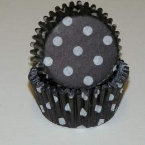 cakesupplyshop negro y blanco lunares mini para cupcakes - moldes para cupcakes -250 unidades con copos de purpurina comestible: Amazon.es: Hogar