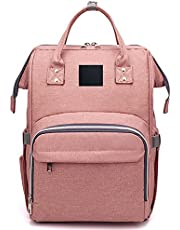 Baby Changing Bag, Waterproof Large Capacity for Mom and Dad, Baby Diaper Bag Nappy Backpack