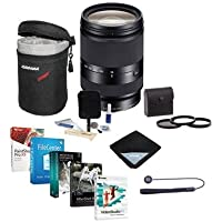 Sony 18-200mm f/3.5-6.3 OSS LE E-Mount NEX Lens Bundle with 62mm Filters & Pro Software