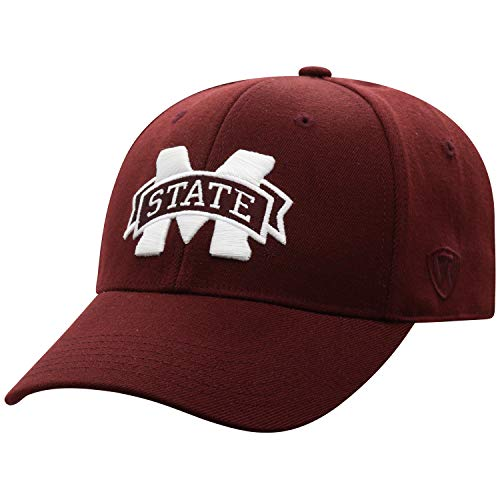 Top of the World Mississippi State Bulldogs Men's Memory Fit Hat Icon, Maroon, One Fit