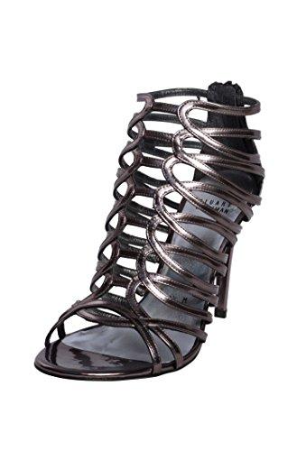 Stuart Weitzman Bridal & Evening Collection Womens Loops Antracite Specchio Sandal 10 M - Stuart Weitzman Evening Shoes