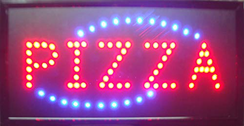 Led Pizza Signs for Business - Neon Pizza Open Signs, Pizza Led Neon Sign,Window Sign, Business Sign, Store Sign, Shop Sign, Great for Pizza Store, Bar, Coffee Shop, Restaurant (Pizza Open Sign)