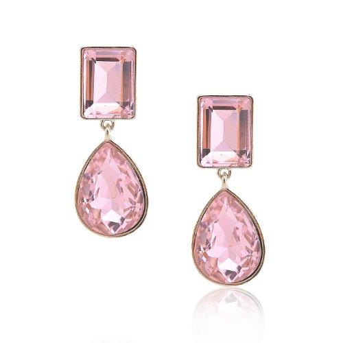 Silver Plated Crystal Dangle Earrings