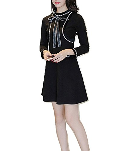 h and m black fringe dress - 1