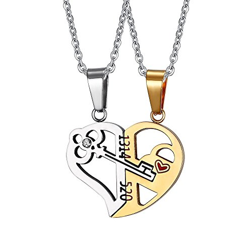 Stainless Matching Pendant Necklace couples