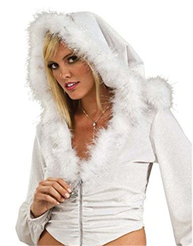 Sexy Snow Bunny Christmas Costumes - Secret Wishes Snow Bunny Hoodie, White,