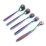 OdontoMed2011 Lot of 5 Pieces Rotating Spur Neurological Wartenberg Pinwheel 1 + 2 + 3 + 5 + 7 Heads Stainless Steel Multi Color Rainbow Pin Wheel Diagnostic Equipment
