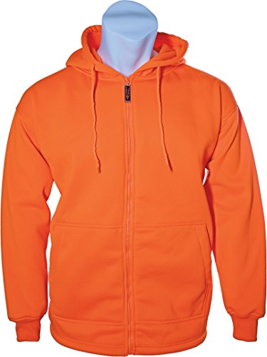 Trailcrest Mens Heavyweight Double Fleece Full Zip Safety Blaze Hoody for Hunting, Hiking, ()
