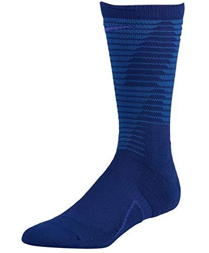 (Nike Elite Basketball Crew Socks (Medium (Men's Shoe 6-8, Women's Shoe 6-10), Court Purple Busrt Teal))