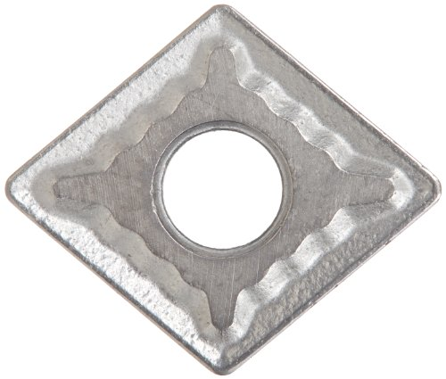 """Cobra Carbide 40176 Solid Carbide Turning Insert, C550 Grade, Uncoated (Bright) Finish, CNMG Style, CNMG 432, 3/16"""" Thick, 1/32"""" Radius (Pack of 10)"""