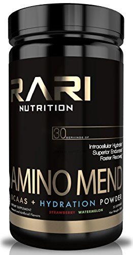 RARI Nutrition AMINO MEND Post Workout Powder Amino Acids + BCAA for Muscle Recovery, Strength, Endurance, and Hydration Pre | Intra | Post 30 Servings of Aminos Strawberry Watermelon