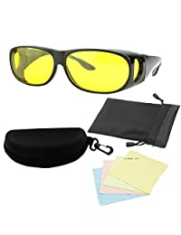 "MaxAike1 Wrap Around Glasses Night Vision Yellow,25"" X 13"""