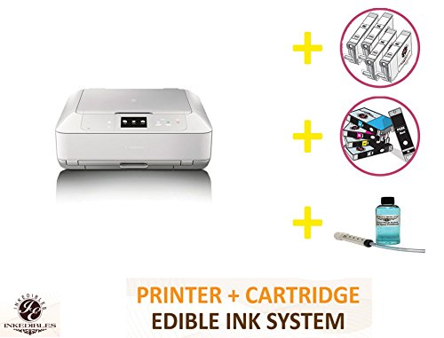 YummyInks Brand Professional Deluxe Package: YummyInks Brand Canon MG7520 Bundled Printing System - white (includes extras)