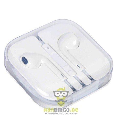 Original Apple EarPods In-Ear Headset mit Mikrofon und Fernbedienung (Remote) 3,5 mm für Apple iPhone 5, 3GS , 4 ,4S - iPod classic, nano 4, nano 5, nano 6, nano 7, touch 2, touch 3, iPod touch 4, touch 5 - iPad Mini, iPad 2 3 4 mit Aufbewahrungs- und Transporthülle