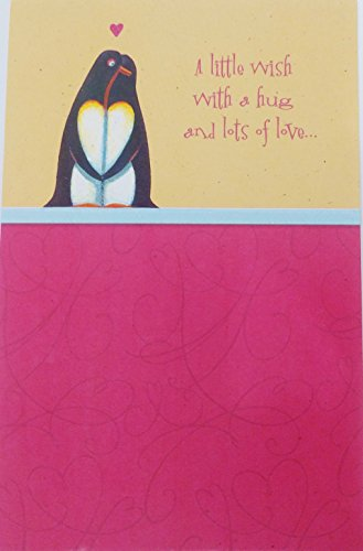 Hug and Lots of Love - Happy Sweetest Day Greeting Card w/ Penguins