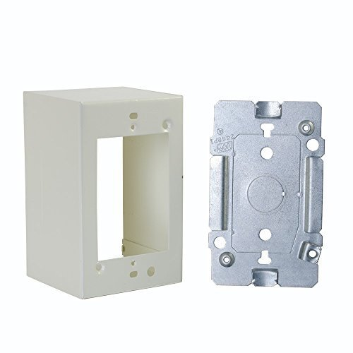 Wiremold V2444 Extra Deep Device Box Fitting Steel Ivory For Use With 2400 Series Dual-Channel Raceway