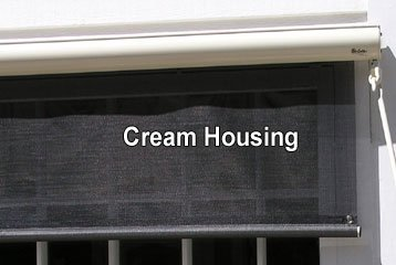 12 Cream Sunsetter Motorized Easyshade With Charcoal