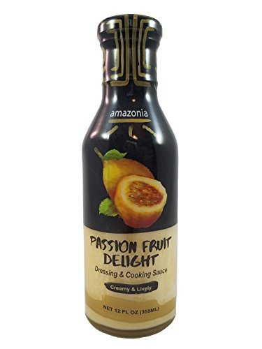 Passion Fruit Hot Sauce - Amazonia Passion Fruit Delight - Gourmet Dressing & Cooking Sauce, Gluten-Free, No Trans Fat, 100% Natural Flavors - 12 ounces