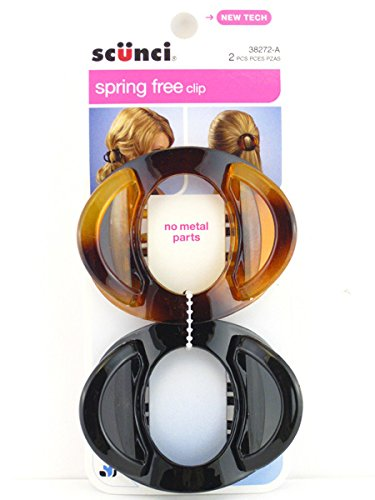 Scunci Spring Free Hair Clip 2 ea