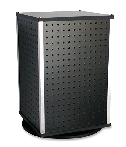 New Black Pegboard 4-Sided Counter Cube Spinner 13.75''W x 13.75''D x 21.5''H by cube Spinner