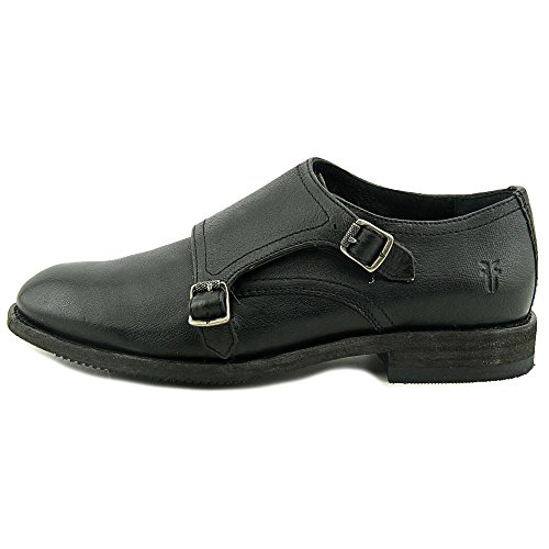 Frye Womens Ethan Double Monk In Pelle Di Bufalo Nero