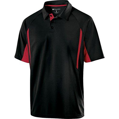 Holloway Sportswear Avenger Short-Sleeve Polo Shirt. 222530 Black / Scarlet 4XL ()