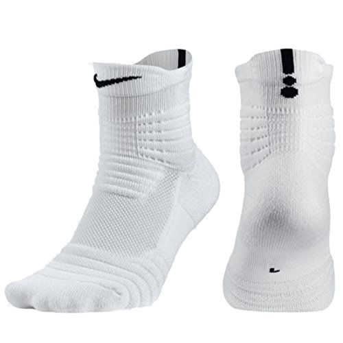Nike Boy's Elite Versatility Mid Socks White/Black SX5370-100 Size Small 3-5Y by NIKE