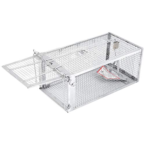 """Live Animal Trap 11"""" X 6"""" X 5"""" Catch Release Cage for Small Rodent Humane One Door Live Animal Trap for Catching Squirrels, Chipmunks, Rats, Weasels"""