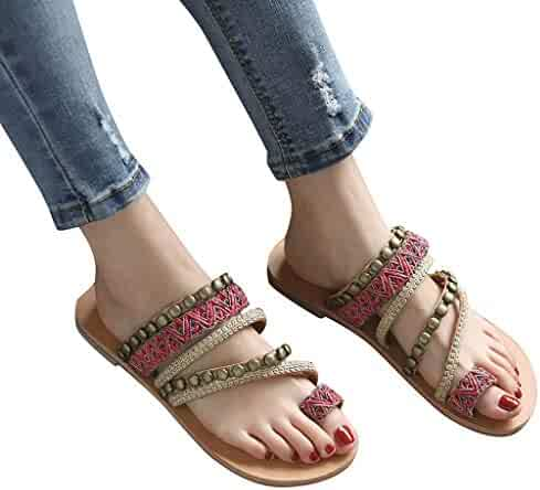 71f8ec4d40c5 Memela Clearance sale Women Sandals Flat Slipper Bohemian Ethnic Shoe  Female Flat Open Toe Sandals Flip