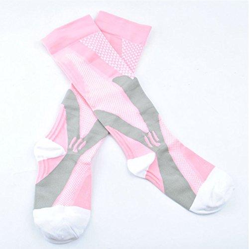 3 Pairs Compression Socks for Men and Women Graduated Athletic Socks for Sport Medical, Athletic, Edema, Diabetic, Varicose Veins, Travel, Pregnancy, Shin Splints, Nursing by Yodofa (Image #9)