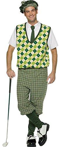 Rasta Imposta Men's Old TYME Golfer Outfit Funny Theme Halloween Fancy Costume, OS (42-48)